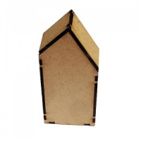 Block Style MDF House Kit - Tall with Wonky Roof