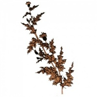 Thistle Flower Branch MDF Wood Shape - Style 1