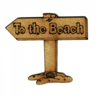 To The Beach Signpost - MDF Wood Shape