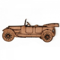 Vintage Car MDF Wood Shape Style 2