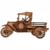 Vintage Car MDF Wood Shape Style 4