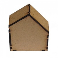 Block Style MDF House Kit - Wide with Wonky Roof
