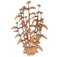 Bushy Wildflower MDF Wood Shape