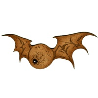 Flying Eyeball with Bat Wings Style 3  - MDF Wood Shape