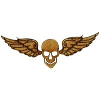 Flying Skull with Angel Wings - MDF Wood Shape