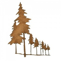 Winter Tree Scene MDF Wood Shape - Style 5