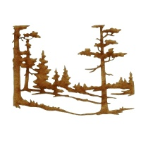 Winter Tree Scene MDF Wood Shape - Style 9