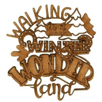 Winter Wonderland - Decorative MDF Wood Words