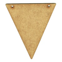 MDF Triangle Shape Bunting
