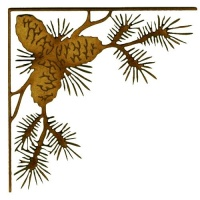 Fir Cones & Branches - MDF Wood Corner