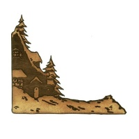 Winter Cottage Scene MDF Wood Corner - Style 65