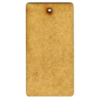 MDF Tag Shape - Rounded Rectangle