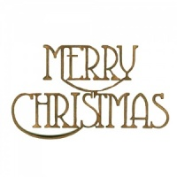Merry Christmas - Wood Words in Coventry Garden Font