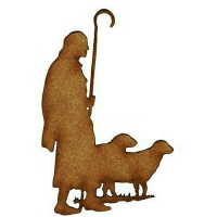 Shepherd & Flock Silhouette - MDF Wood Shape