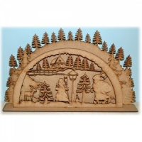 3D Christmas Forest MDF Wood Scene
