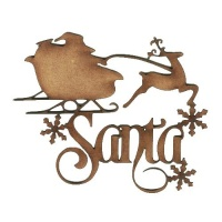 Santa - Decorative MDF Wood Words